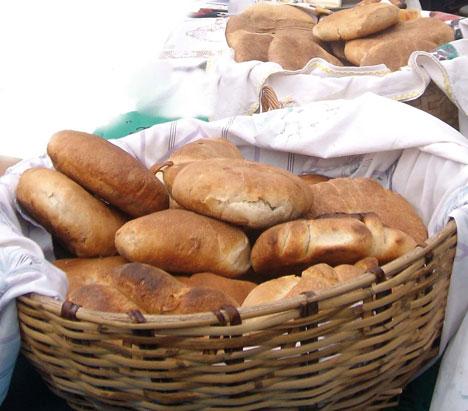 Pan amasado chileno