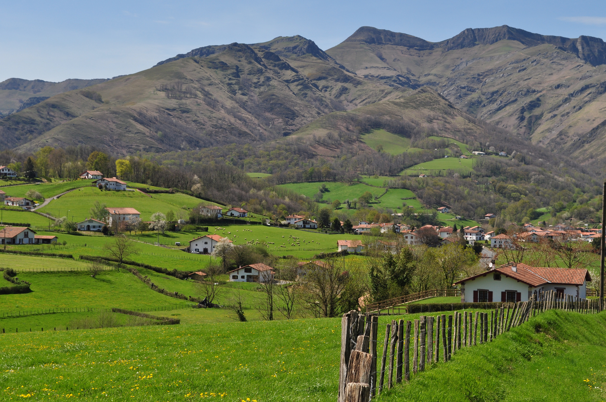 The Basque countryside near Saint-Etienne de Baïgorry, Basse-Navarre, France