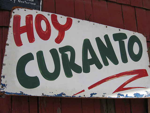 curanto sign, island of chile