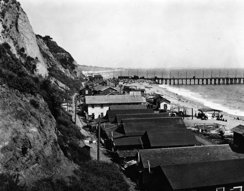 The Japanese fishing village at the mouth of the Santa Monica Canyon