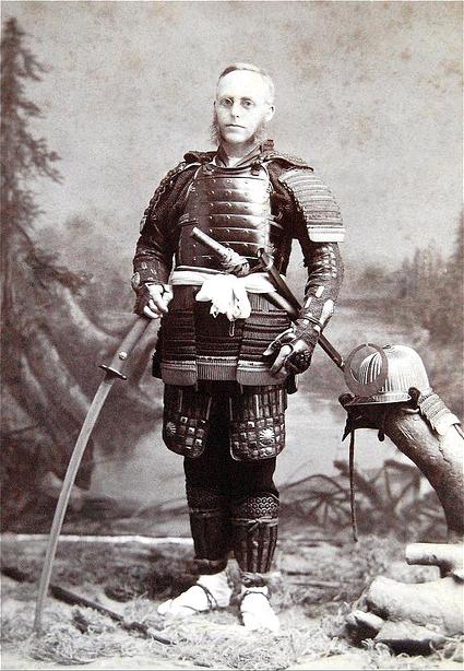 An American in Japanese Samurai Armor, circa 1890