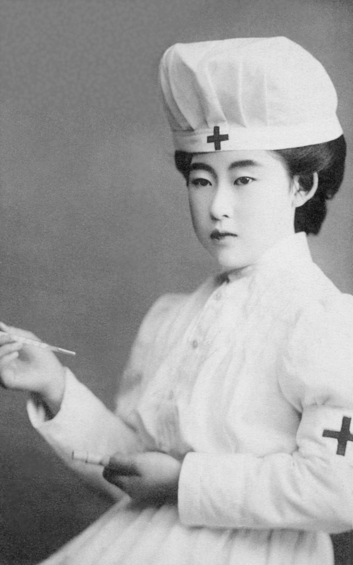 The Japanese Crown Princess in a Red Cross Uniform