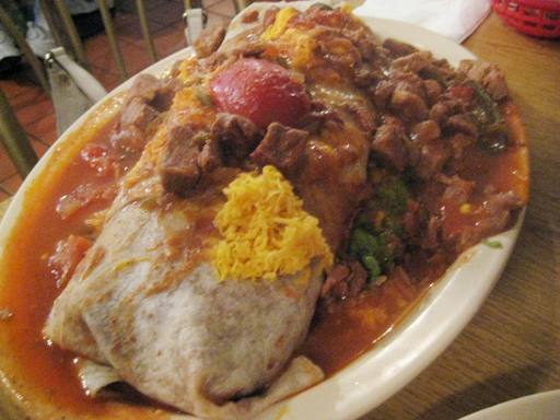 The Hollenbeck Burrito from Manuel's El Tepeyac Cafe