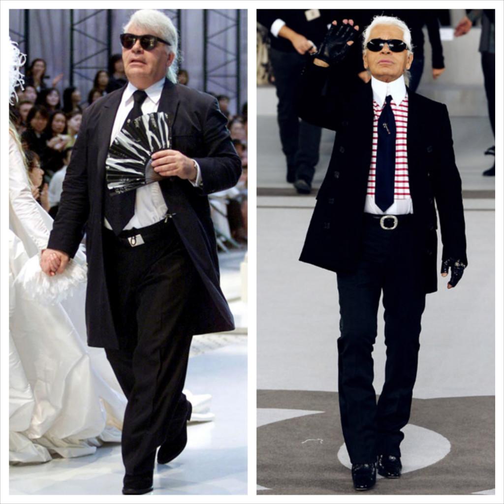 Fat Lagerfeld versus Thin Lagerfeld