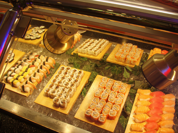 sushi in a chinese buffet