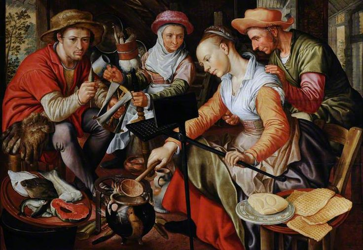 Joachim Beuckelaer Scenes from a Dutch Kitchen: Waffles