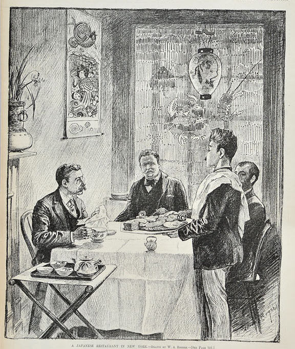 A Japanese Restaurante in New York, August 31, 1889, Harpers Weekly