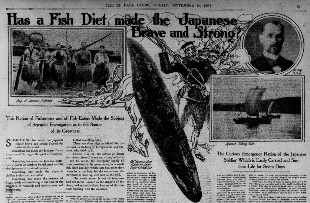 Has Fish Diet Made the Japanese Brave and Strong. St. Paul Globe, September, 18 1904