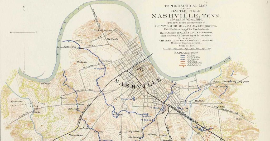 The Battle of Nashville, 1864.
